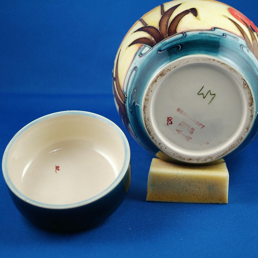 Large Touch Screen >> Moorcroft Ginger Jar, Reeds at Sunset Pattern