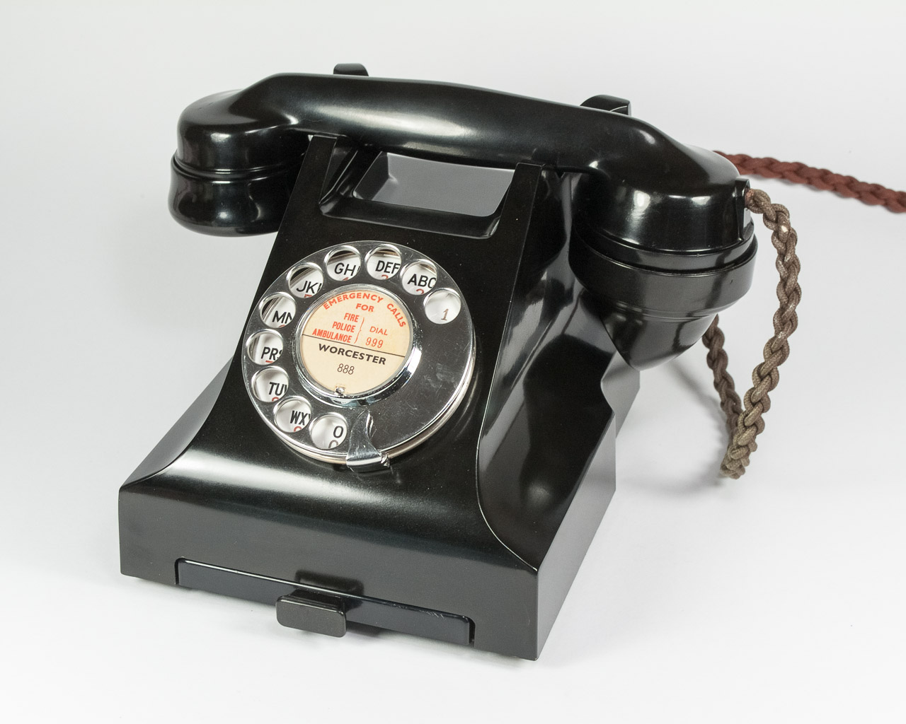 Bakelite Phone 332l With Drawer Antique British Gpo Dial