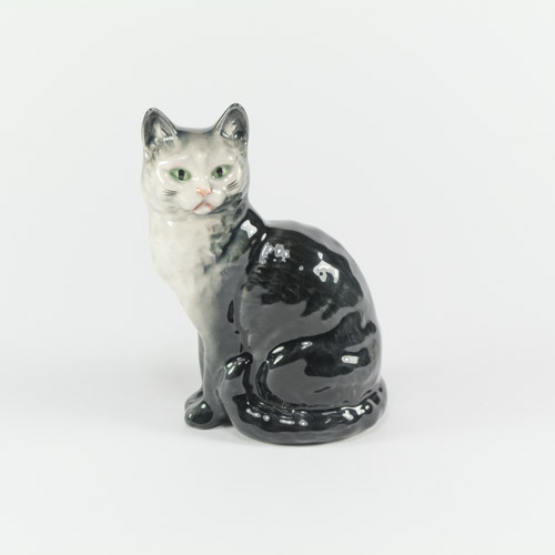 Grey Smokey blue gloss beswick cermaic cat figurine