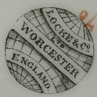 Locke and Co, Shrubhill, Worcester factory backstamp