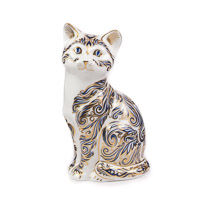 Royal Crown Derby Paperweight, Majestic Cat