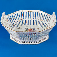 KPM Berlin Scepter for Königliche Porzellan Manufaktur Porcelain Basket