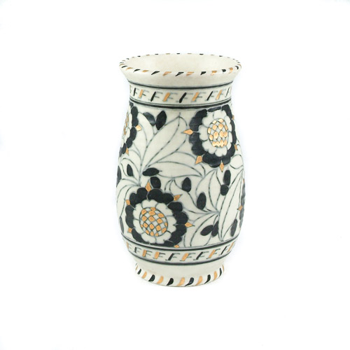 Crown Ducal Vase By Charlotte Rhead Black And Gold 5393 Pattern