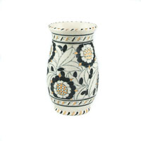 Charlotte Rhead Vase Tudor Rose Black and Gold 5393, Crown Ducal