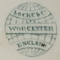 Locke & Co, Worcester England Porcelain Backstamp