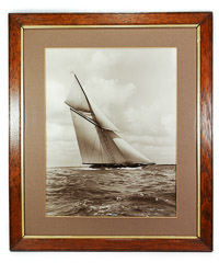 Beken and Son, Cowes, framed photograph of White Heather II 1924
