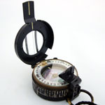 WW2 Prismatic Pearl Officers Compass Marked with military Broad arrow or crows foot