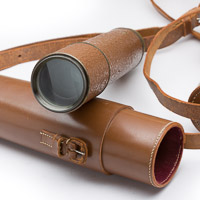 HCR and Son Scout Regiment Snipers Spotting Telescope and leather case with hand stitching