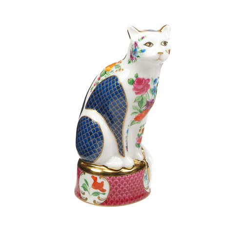 Royal Worcester Giles Cat candle snuffer